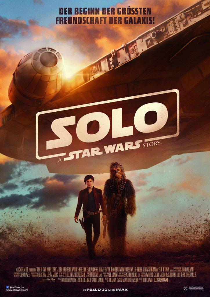 """Offizielles Filmplakat zu """"Solo: A Star Wars Story"""" © Walt Disney"""