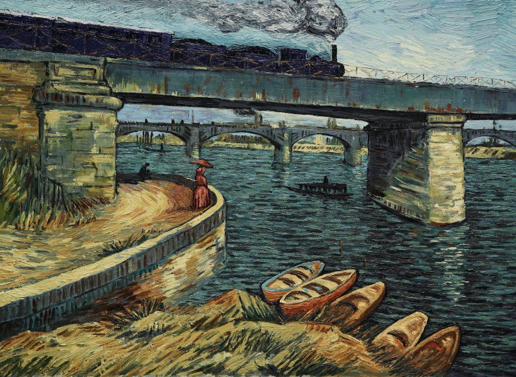 """Im Zug nach Paris, Szene aus """"Loving Vincent"""" © Weltkino"""
