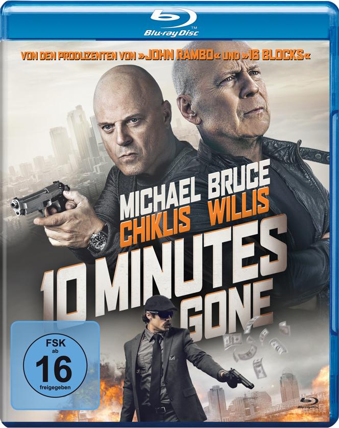 Michael Chiklis und Bruce Willis zieren das Cover von 10 Minutes Gone mit ernstem Blick