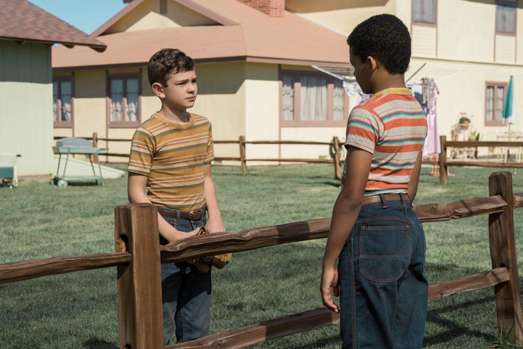 "Noah Jupe und Tony Espinosa als ""Nicky Lodge"" & ""Andy Meyers"" in ""Suburbicon"" by Constantin Filmverleih"