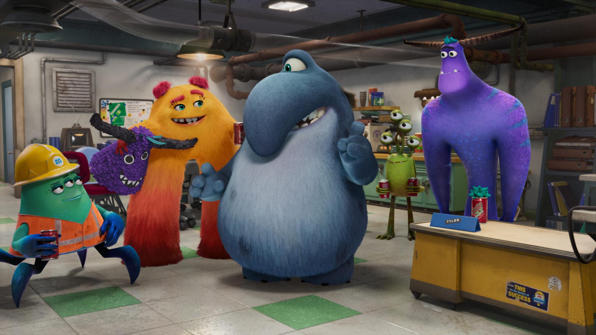 """Das Bild zeigt einige bunte Monster aus der neuen Serie """"Monster bei der Arbeit"""""""