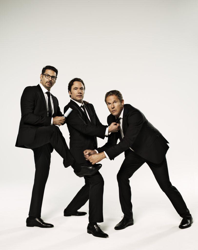Interview mit Michael Bully Herbig. Foto - Rick Kavanian,Michael Bully Herbig und Christian Tramitz