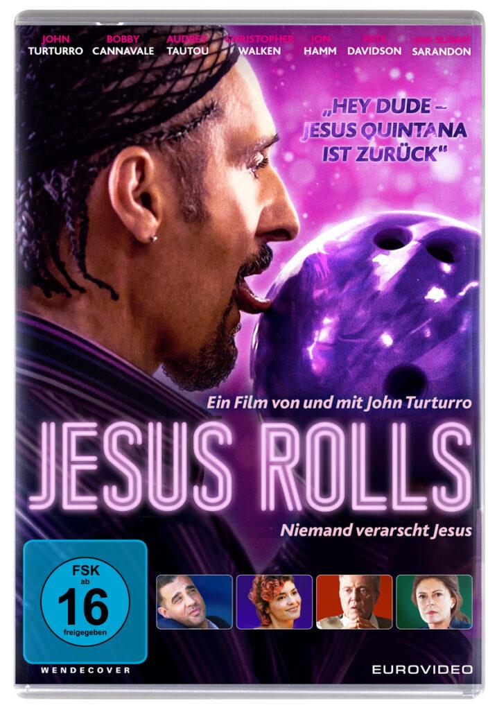 John Turturro leckt seine lilane Kugel ab auf dem Cover von Jesus Rolls