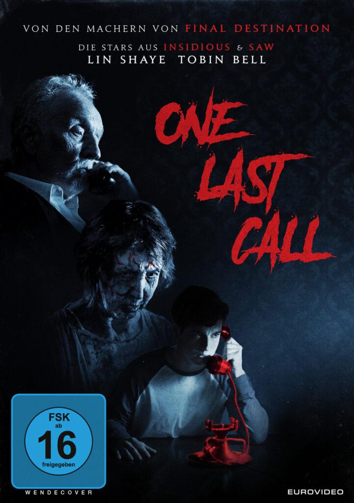 Das Filmposter zu One Last Call zeigt die beiden Horror-Stars Lin Shaye und Tobin Bell