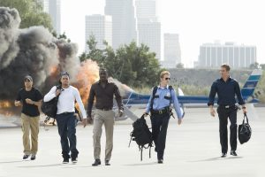 (l to r) Michael Ealy, Chris Brown, Idris Elba, Hayden Christensen and Paul Walker star in Screen Gems' action thriller TAKERS. ©Sony Pictures Home Entertainment
