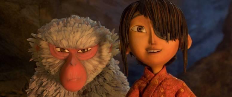 """Monkey und Kubo in """"Kubo - Der tapfere Samurai"""" by Universal Pictures"""