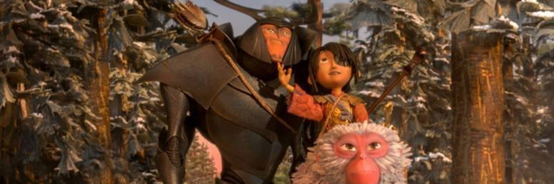 "Beetle, Kubo und Monkey in ""Kubo - Der tapfere Samurai"" by Universal Pictures"
