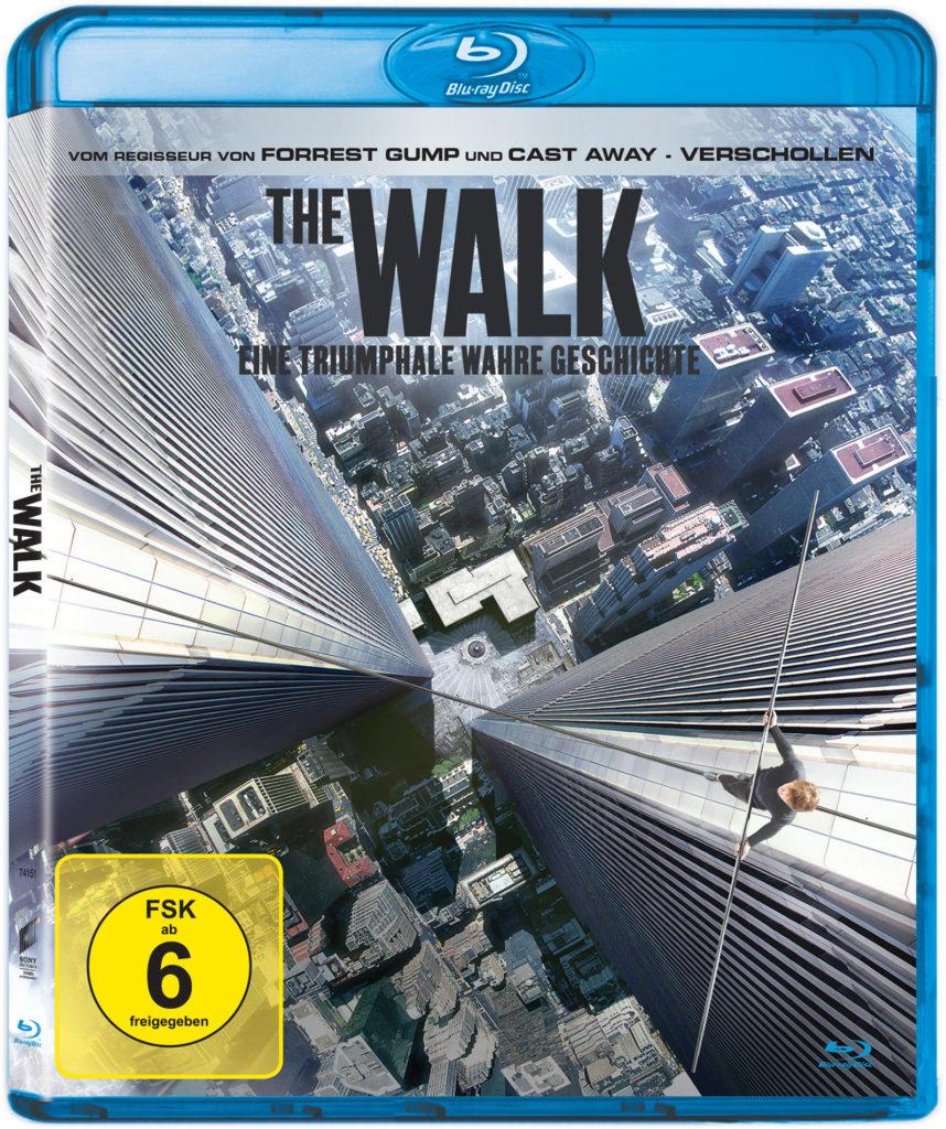 Blu-ray zu The Walk, Philippe läuft zwischen den Türmen auf dem Drahtseil