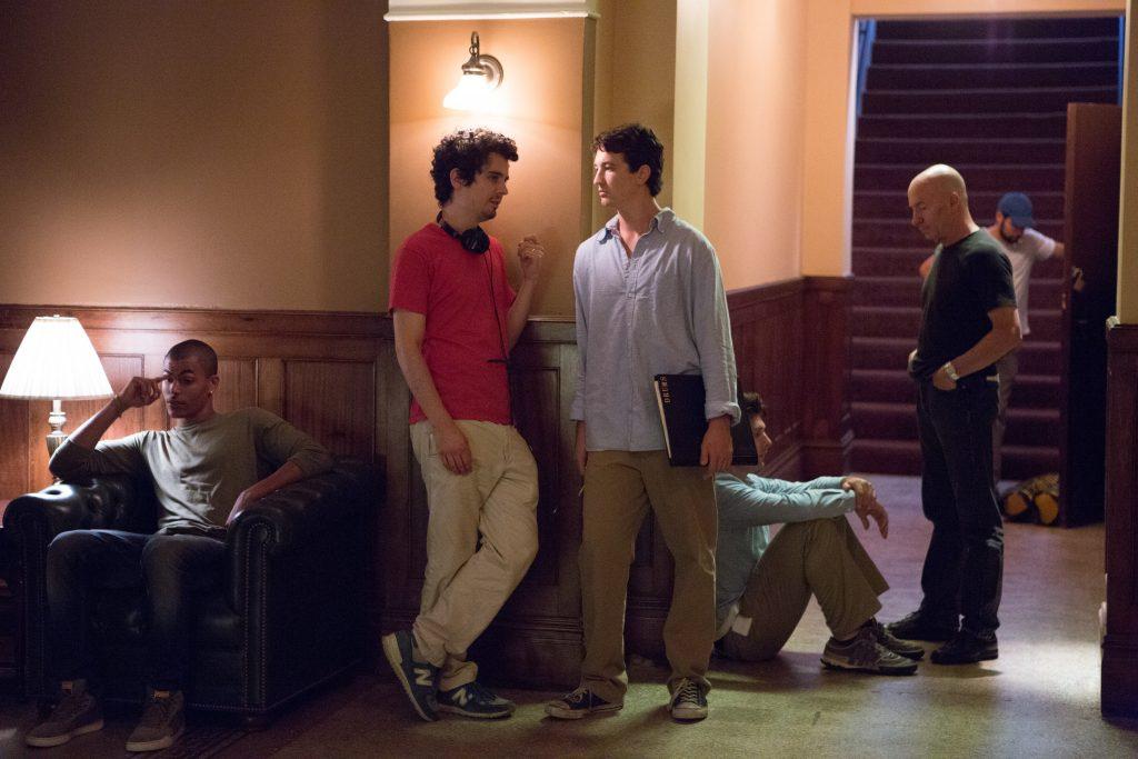 Miles Teller im Gespräch mit Regisseur Damien Chazelle ©Sony Pictures