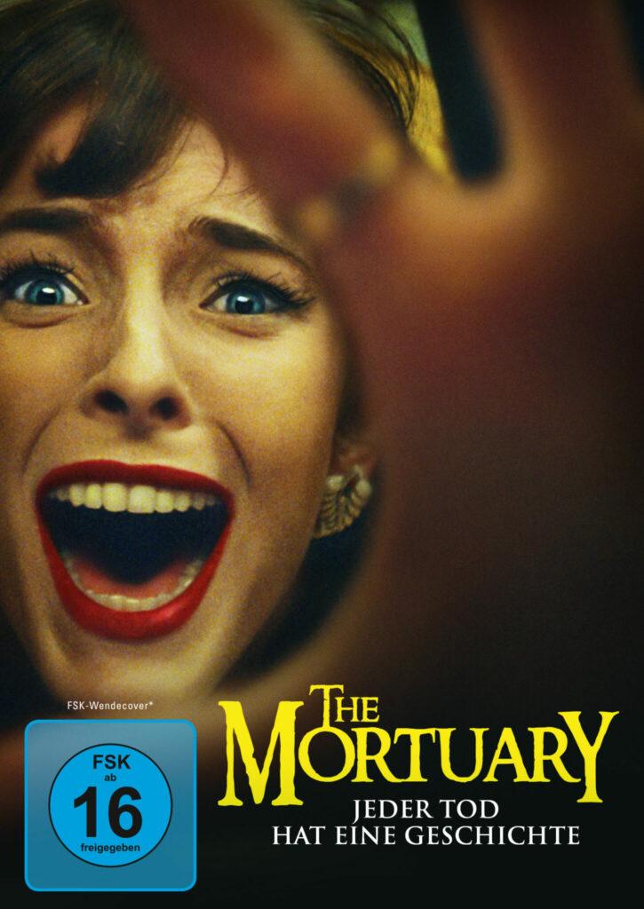 Das Filmcover zu The Mortuary - Jeder Tod hat eine Geschichte zeigt eine schreiende junge Frau.