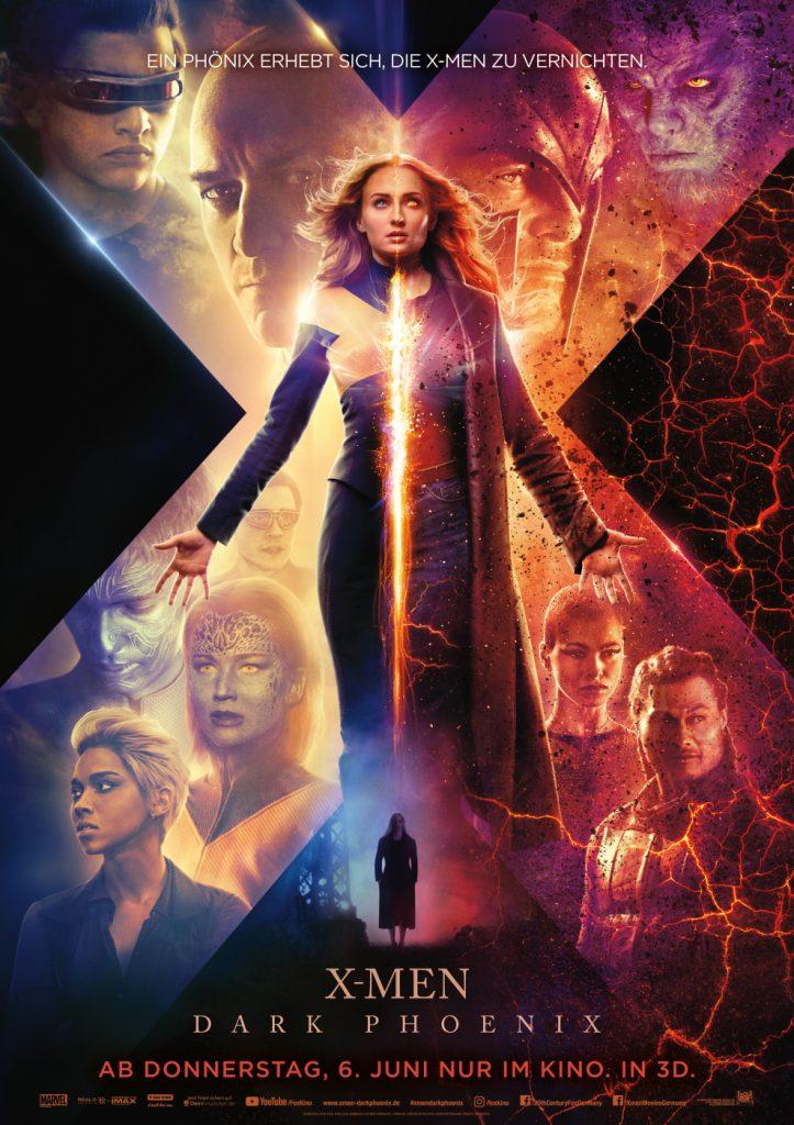 Das offizielle Kinoposter zu X-Men: Dark Phoenix. © 2019 Twentieth Century Fox