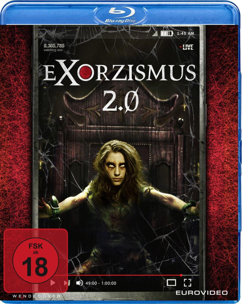 Das Filmcover zu Exorzismus 2.0 zeigt eine Frau, die an einem Stuhl gefesselt ist und vom Dämon besessen ist.