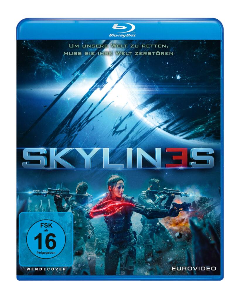 Das Filmposter zu Skylines zeigt Rose mit ihrer Crew im Kampf gegen die Aliens