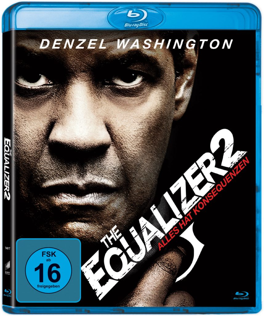 Blu-ray-Cover zu The Equalizer 2 © 2018 Columbia Pictures Industries, Inc. All Rights Reserved.