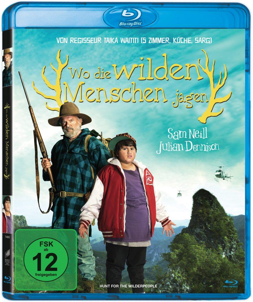 Das Bluray Cover von Wo die wilden Menschen jagen.© 2016 Majestical Pictures Limited. All Rights Reserved.