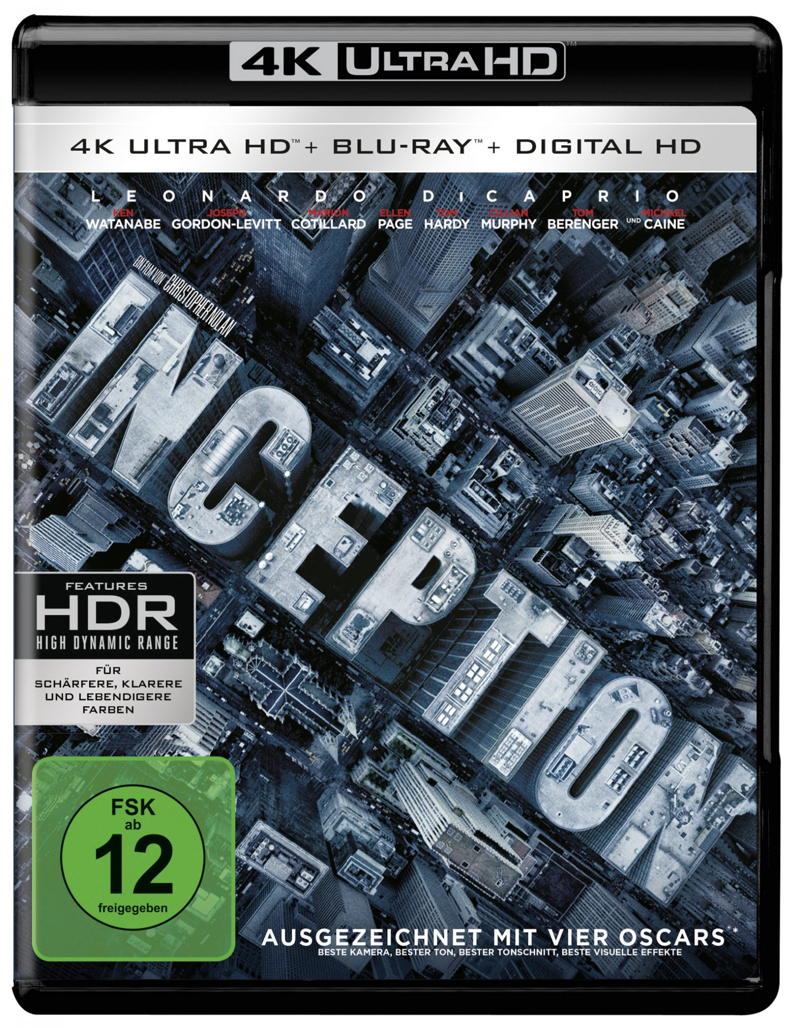 4K-Bluray-Cover zu Inception