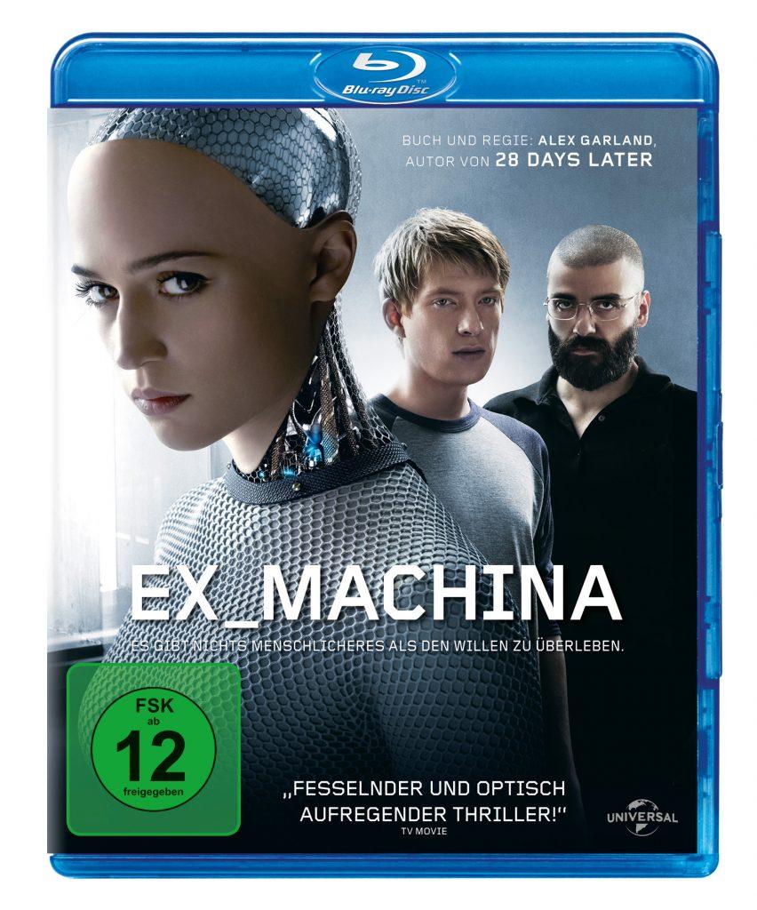 """Bluray-Cover von """"Ex Machina""""."""