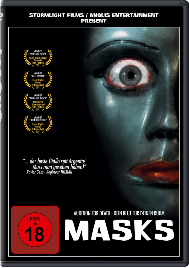Das DVD Cover von Masks. © 2012 ANOLIS ENTERTAINMENT GmbH & Co.KG. ALL RIGHTS RESERVED.