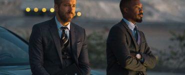 Ryan Reynolds und Corey Hawkins im Gespräch