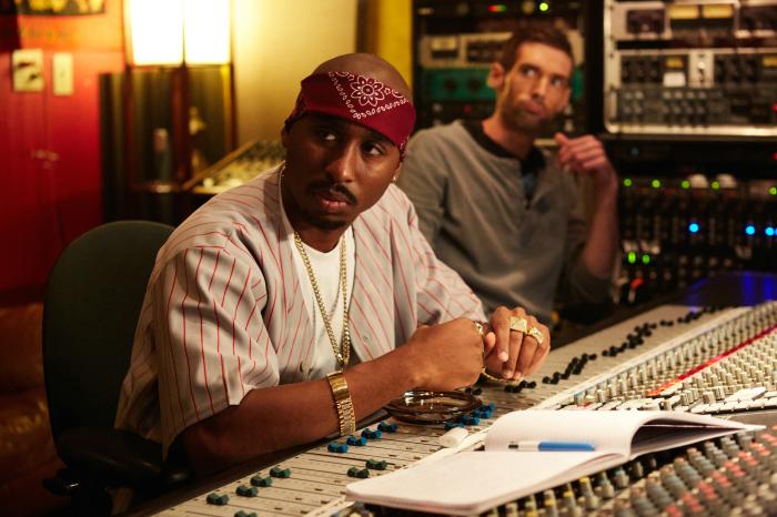 Tupac im Tonstudio