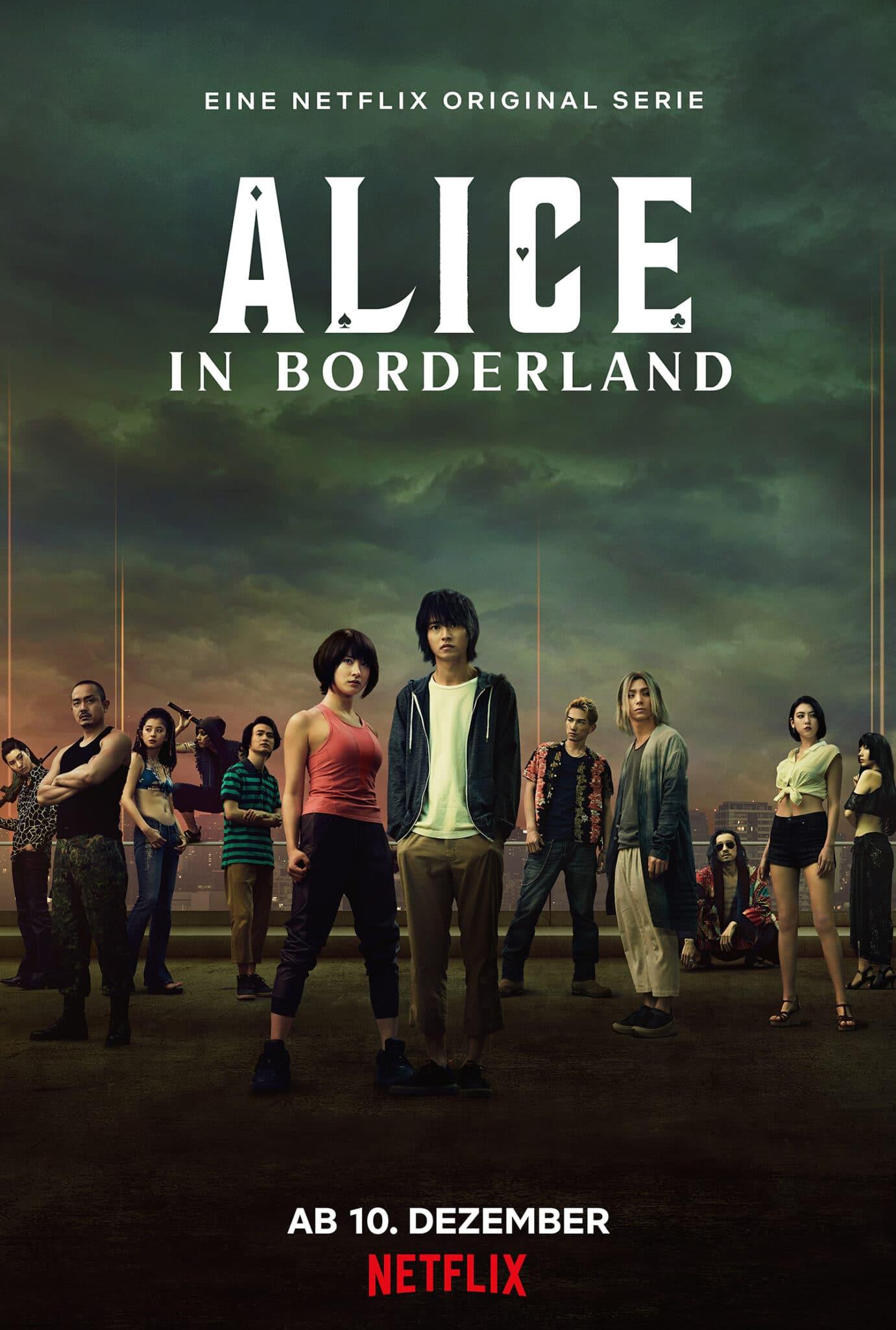 Das deutsche Plakat der Serie Alice in Borderland