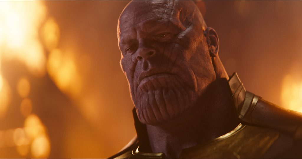 CGI Bösewicht AVENGERS: INFINITY WAR..Thanos (Josh Brolin)..Photo: Film Frame..©Marvel Studios 2018