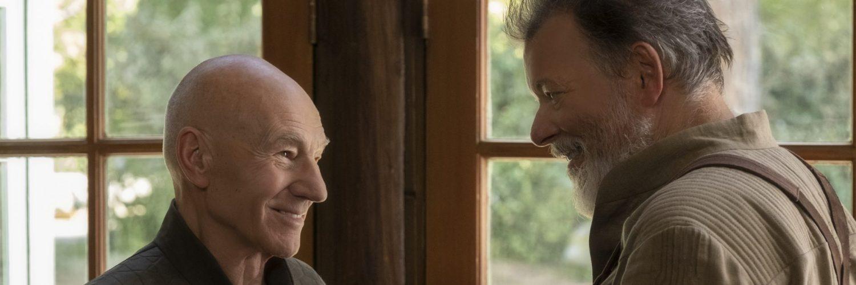 Patrick Stewart und Jonathan Frakes in ST: Picard - Neu auf Prime im März 2020
