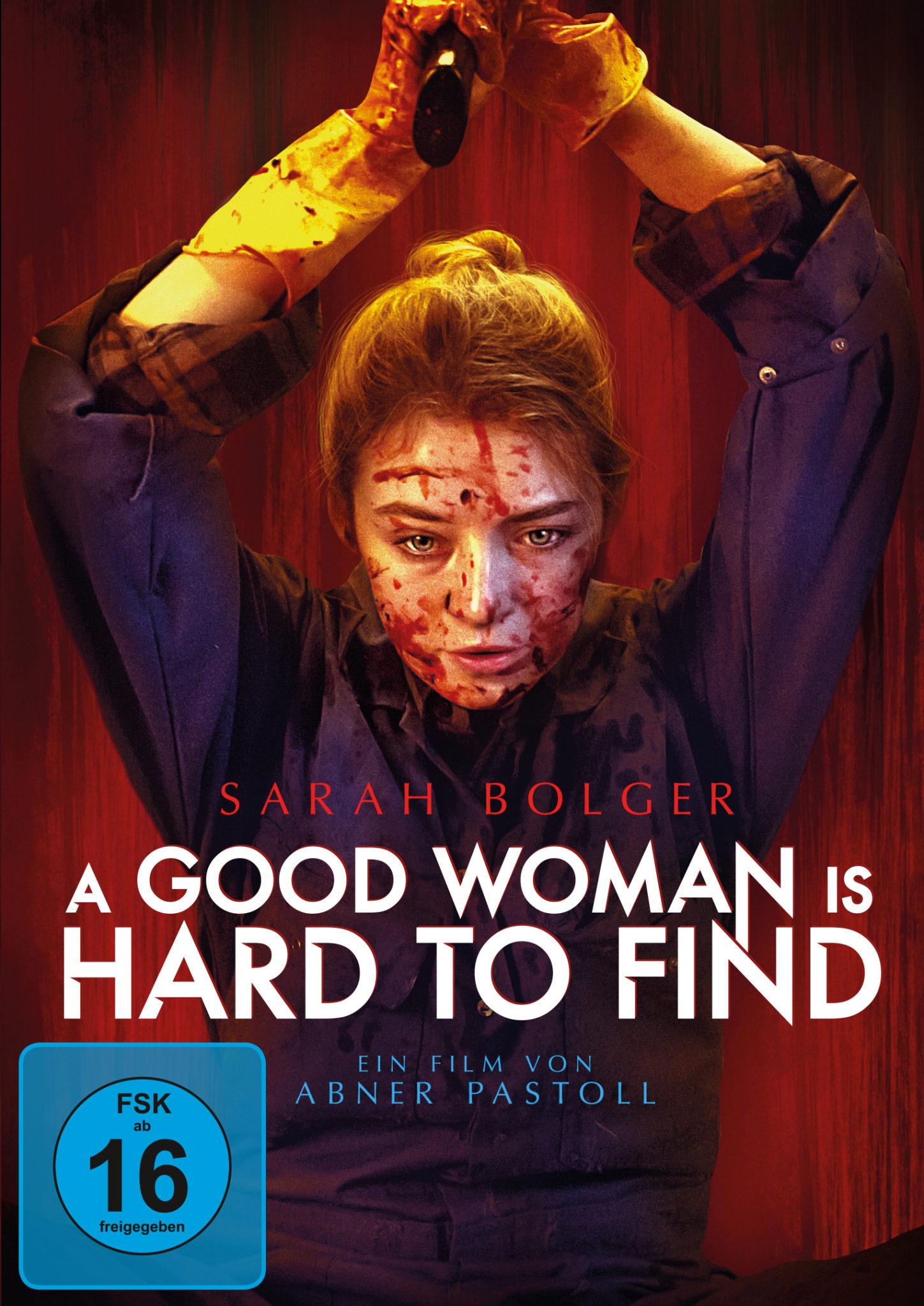Das Poster zeigt die Hauptfigur Sarah, wie sie in einem Blaumann und blutverschmiert eine nicht erkennbare Waffe über ihren Kopf hält.