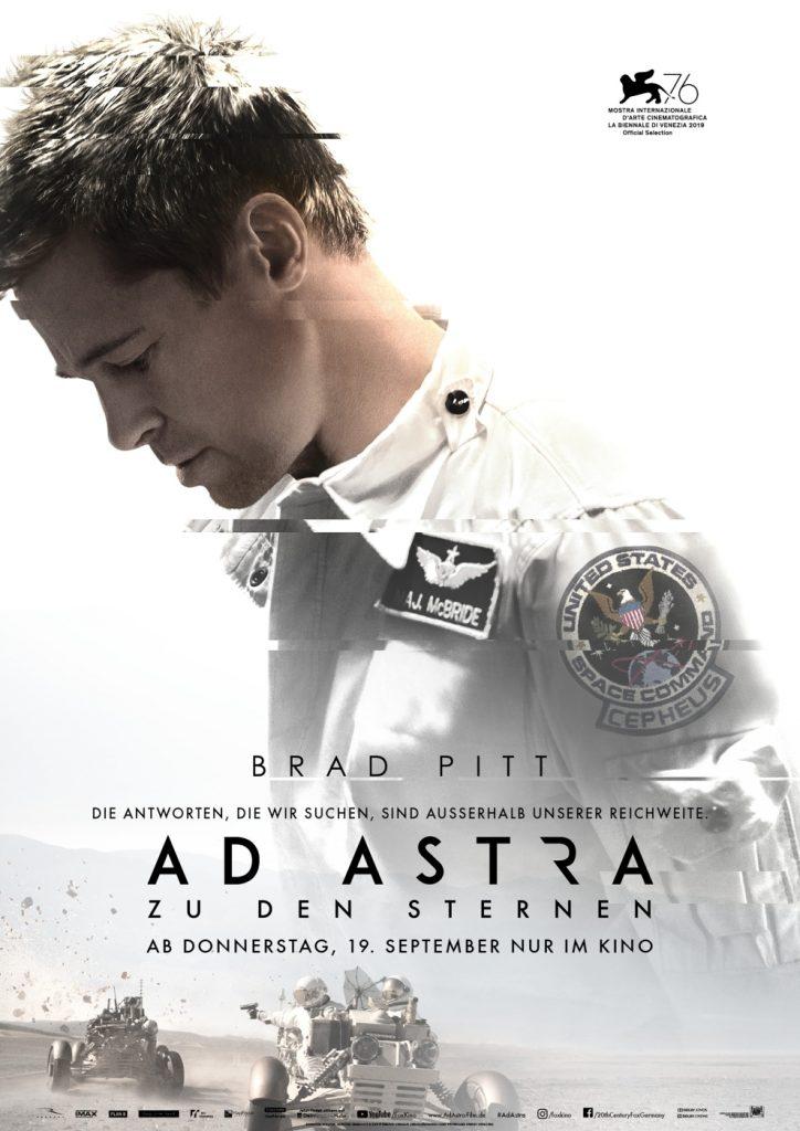 Kinoposter zu Ad Astra - Zu den Sternen mit Brad Pitt