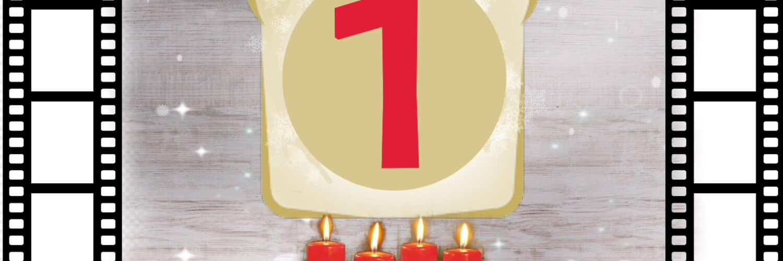 Filmtoast lädt ein zum Adventsfrühstück Podcast #1. Auf dem Bild sind eine Menge Weihnachtsmützen. In der Mitte ist ein Adventskranz mit vier angezündeten Kerzen. Darüber schwebt das Filmtoast-Logo mit einer großen roten 1 darin. Umrandet wird das Bild von zwei Filmrollen.