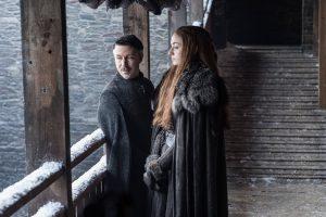 Aidan Gillen und Sophie Turner in Game of Thrones Staffel 7 aus 2017