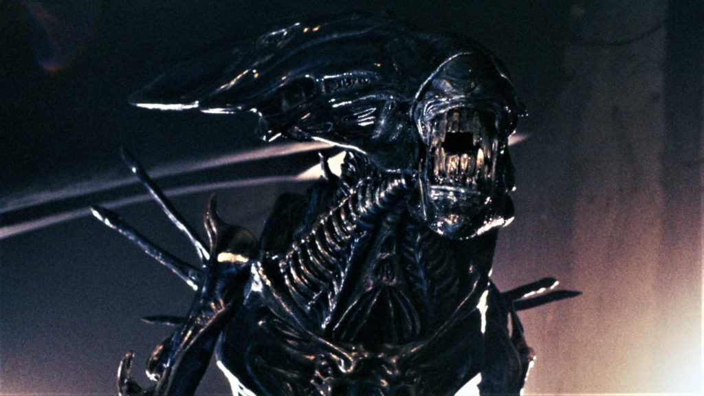 Die Xenomorph-Königin in voller, bedrohlicher Pracht in Aliens - Die Rückkehr.