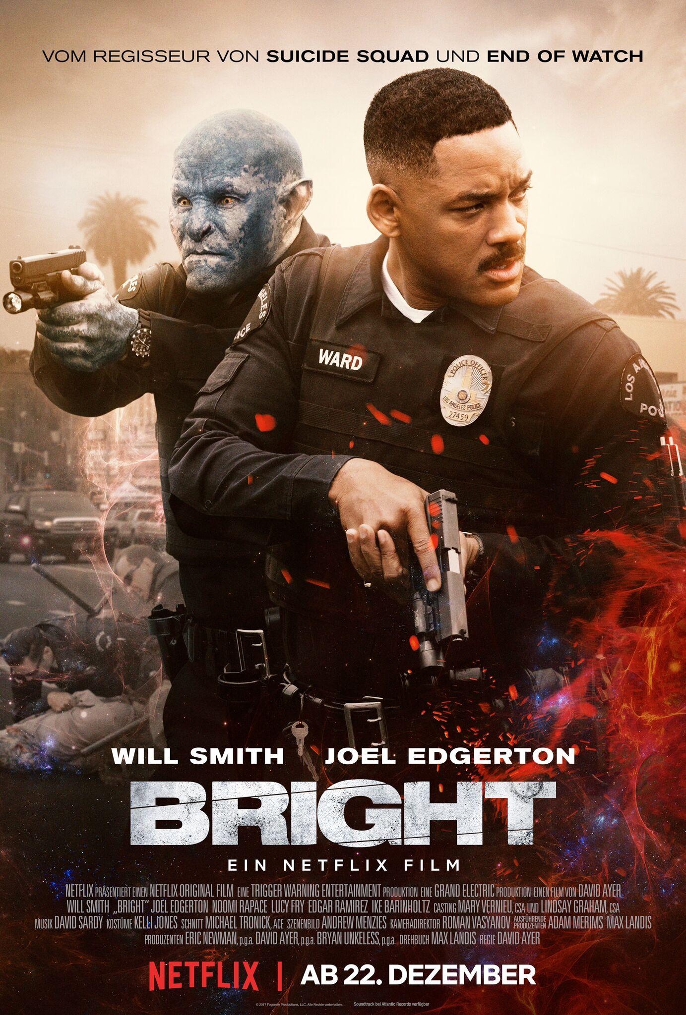 """Poster zum Netflix Film """"Bright"""", von ©Netflix"""