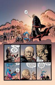 Quar und seine Leute sehen sich selbst als Götter. - Batman die Übermenschen; Alle Rechte liegen bei Paninicomics.