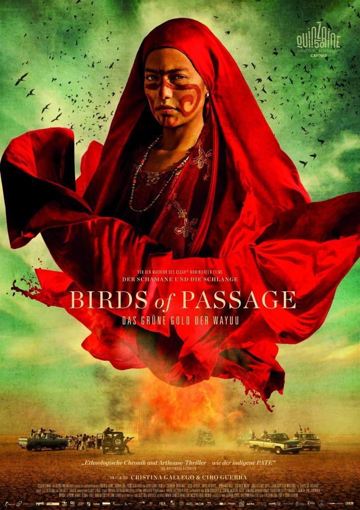 Das deutsche Poster zum Film. | BIRDS OF PASSAGE © 2018 Ciudad Lunar, Blond Indian, Mateo Contreras