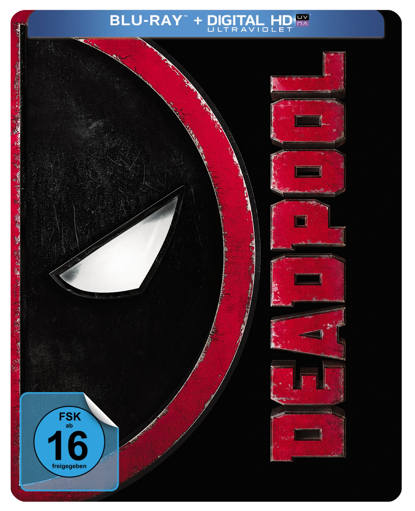 Bluray-Steelbook Cover zu Deadpool aus 2016