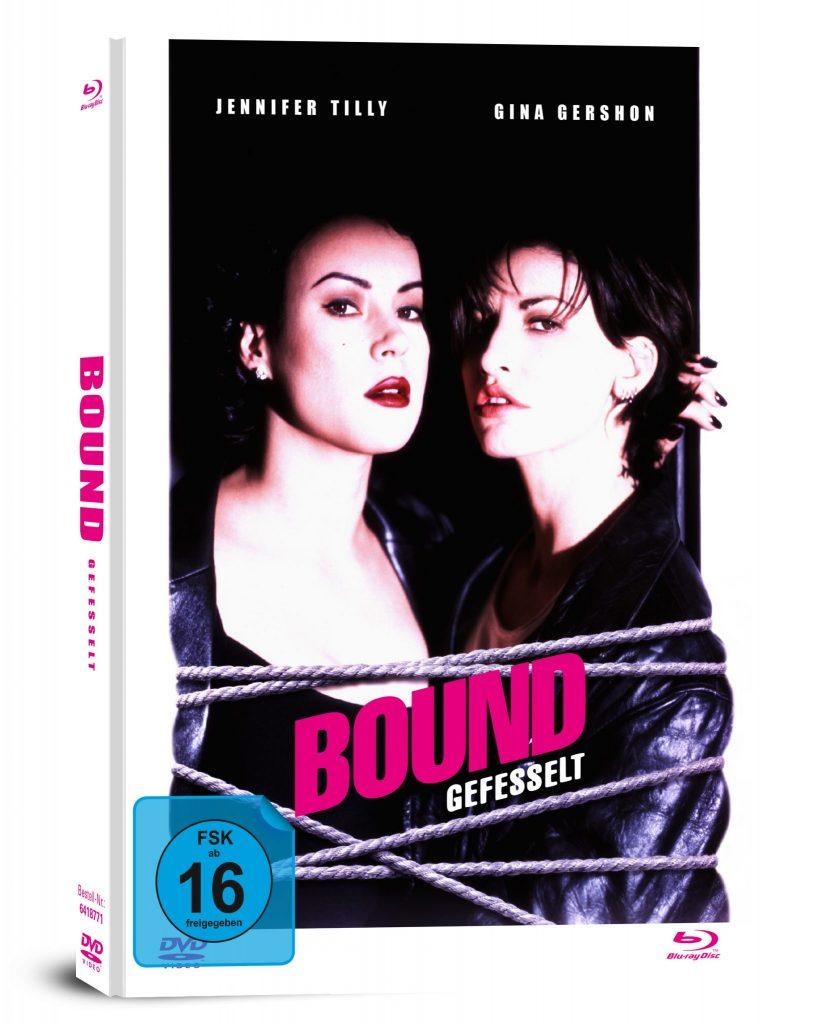Das Mediabook zu Bound mit Jennifer Tilly und Gina Gershon auf dem Cover