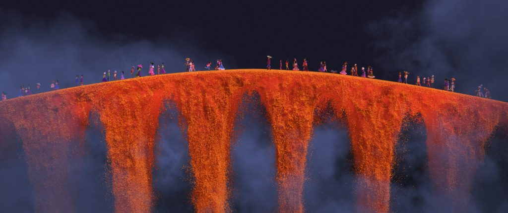 COCO (Pictured) - Marigold Bridge. ©2017 Disney•Pixar. All Rights Reserved.