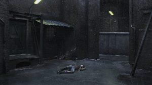 Charlotte Gainsbourgh, verlassen und einsam auf der Straße, in Nymphomaniac
