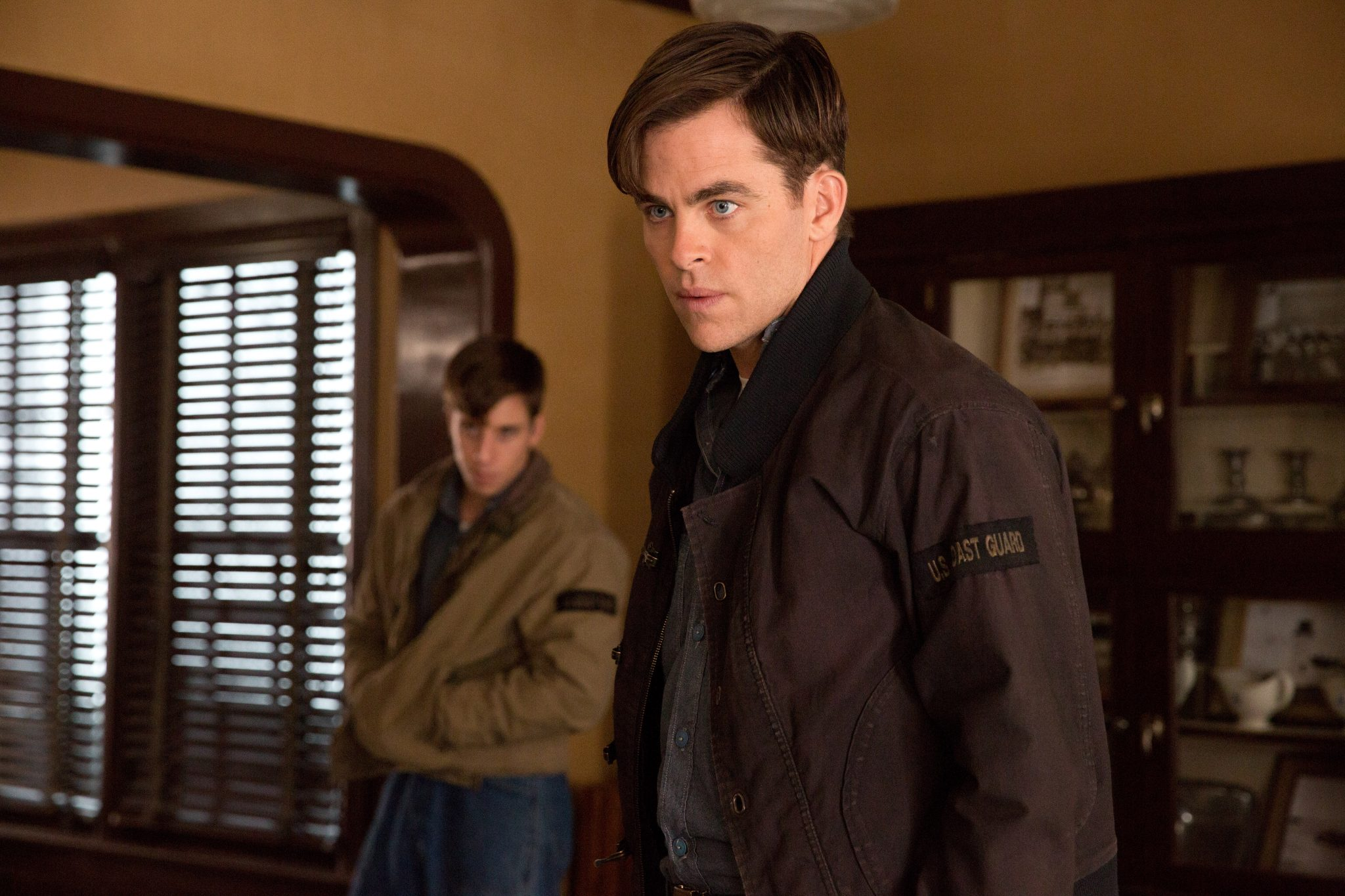 Chris Pine is Bernie Webber and Beau Knapp is Mel Gouthro in Disney's THE FINEST HOURS.