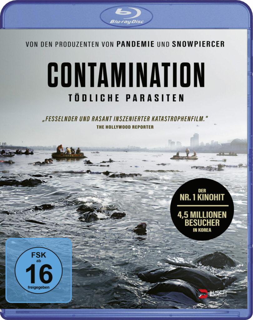 Das Cover der Blu-ray von Contamination - Tödliche Parasiten zeigt einen Fluss voller Leichen.