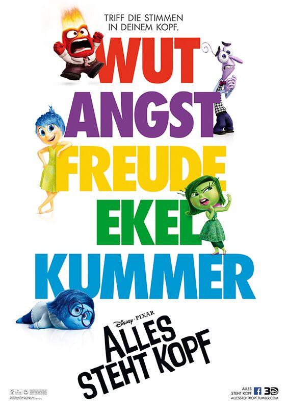 Cover zu Alles steht Kopf ©Disney/Pixar 2015