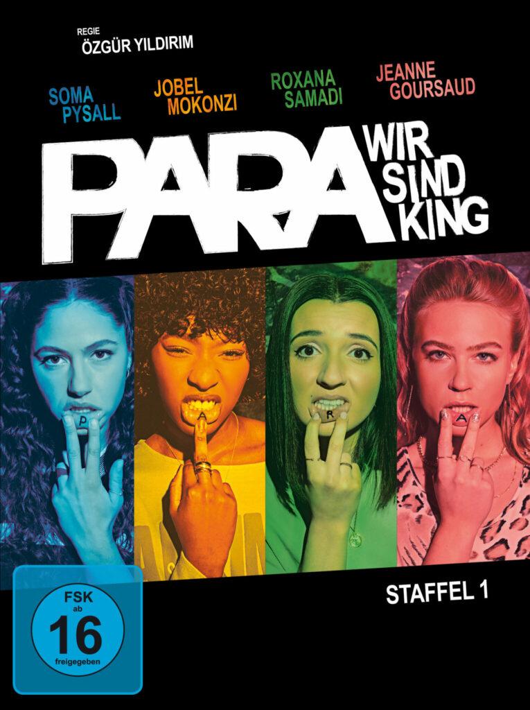 Cover zu PARA - WIR SIND KING. Man sieht die vier Hauptdarstellerinnen Soma Pysall, Jobel Mokonzi,Roxana Samadi und Jeanne Goursaud. © 2020 Turner Broadcasting System Europe Limited - a WarnerMedia Company