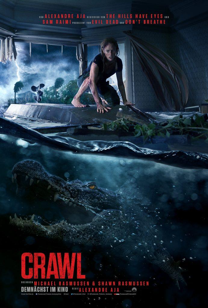 Das offizielle Poster von Crawl. © Paramount Pictures