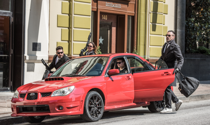 """Die Crew im Einsatz in """"Baby Driver"""""""
