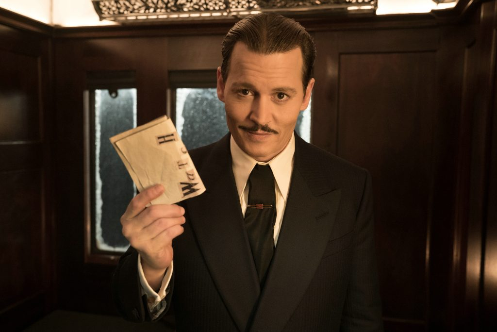 """Johnny Depp als """"Edward Ratchett"""" in """"Mord im Orient Express"""" by 20th Century Fox"""