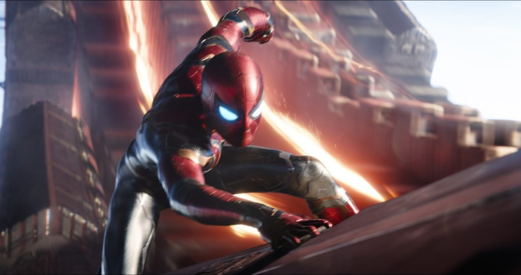 Spinne in neuem Glanz. AVENGERS: INFINITY WAR..Spider-Man/Peter Parker (Tom Holland)..Photo: Film Frame..©Marvel Studios 2018