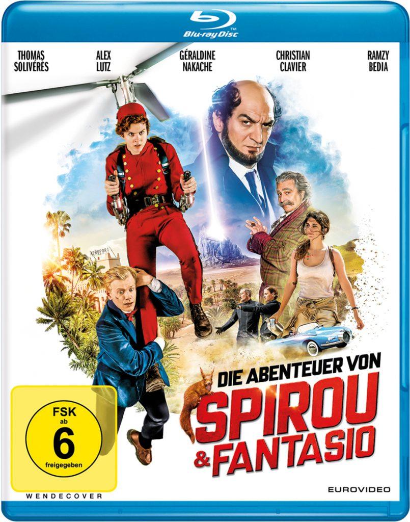 Das Blu-Ray-Cover von Die Abenteuer von Spirou und Fantasio ©EuroVideo