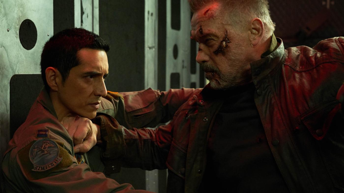 Diego Luna und Arnold Schwarzenegger in einem Actionfilm von 2019