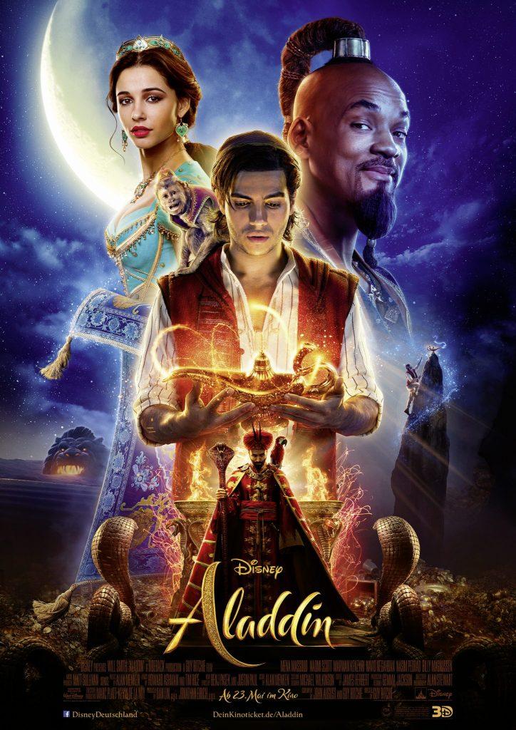 """Das Filmplakat zu """"Aladdin"""". Die Realverfilmung des Zeichentrickklassikers von 1992 ist Disneys neuester Kinohit ©Walt Disney Studios Motion Company"""